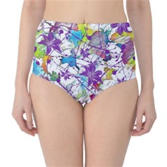 Lilac Lillys High Waist Bikini Bottoms by designworld65