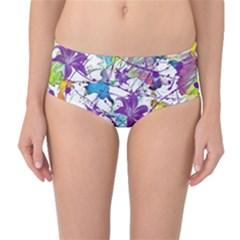 Lilac Lillys Mid Waist Bikini Bottoms