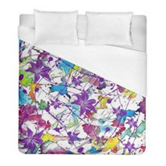 Lilac Lillys Duvet Cover (full/ Double Size)
