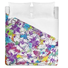 Lilac Lillys Duvet Cover (queen Size)