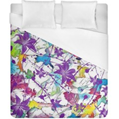 Lilac Lillys Duvet Cover (california King Size) by designworld65