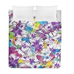 Lilac Lillys Duvet Cover Double Side (full/ Double Size)