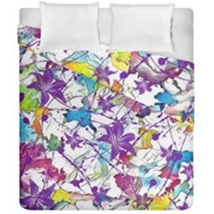 Lilac Lillys Duvet Cover Double Side (california King Size)