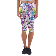 Lilac Lillys Capri Yoga Leggings