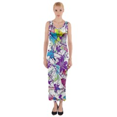 Lilac Lillys Fitted Maxi Dress