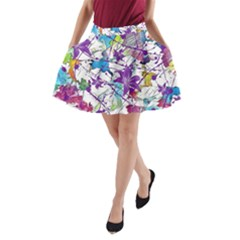 Lilac Lillys A Line Pocket Skirt by designworld65