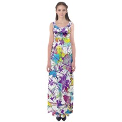 Lilac Lillys Empire Waist Maxi Dress