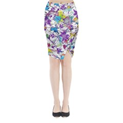 Lilac Lillys Midi Wrap Pencil Skirt