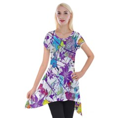 Lilac Lillys Short Sleeve Side Drop Tunic