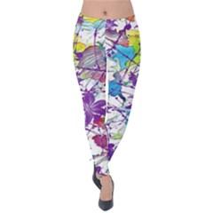 Lilac Lillys Velvet Leggings