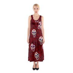 Funny Skull Rosebed Sleeveless Maxi Dress