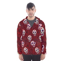 Funny Skull Rosebed Hooded Wind Breaker (men)