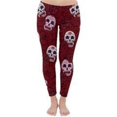 Funny Skull Rosebed Classic Winter Leggings