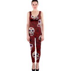 Funny Skull Rosebed Onepiece Catsuit
