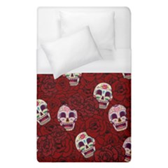 Funny Skull Rosebed Duvet Cover (single Size)