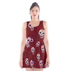 Funny Skull Rosebed Scoop Neck Skater Dress