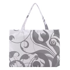 Floral Pattern Medium Tote Bag by Valentinaart