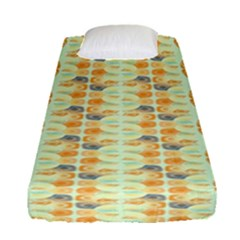 Ethnic Orange Pattern Fitted Sheet (single Size) by linceazul