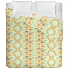 Ethnic Orange Pattern Duvet Cover Double Side (california King Size) by linceazul