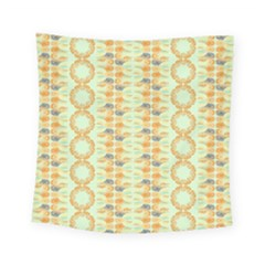 Ethnic Orange Pattern Square Tapestry (small) by linceazul