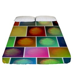 Multicolored Suns Fitted Sheet (king Size) by linceazul