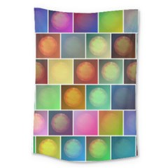 Multicolored Suns Large Tapestry by linceazul