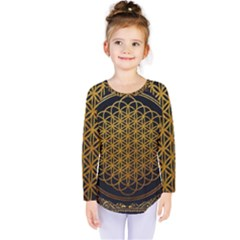 Bring Me The Horizon Cover Album Gold Kids  Long Sleeve Tee by Onesevenart