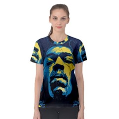 Gabz Jimi Hendrix Voodoo Child Poster Release From Dark Hall Mansion Women s Sport Mesh Tee by Onesevenart