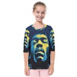 Gabz Jimi Hendrix Voodoo Child Poster Release From Dark Hall Mansion Kids  Quarter Sleeve Raglan Tee