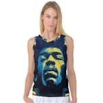 Gabz Jimi Hendrix Voodoo Child Poster Release From Dark Hall Mansion Women s Basketball Tank Top