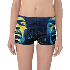 Gabz Jimi Hendrix Voodoo Child Poster Release From Dark Hall Mansion Reversible Bikini Bottoms by Onesevenart