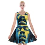 Gabz Jimi Hendrix Voodoo Child Poster Release From Dark Hall Mansion Velvet Skater Dress