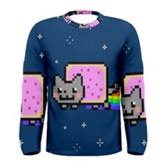 Nyan Cat Men s Long Sleeve Tee by Onesevenart