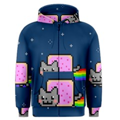Nyan Cat Men s Zipper Hoodie by Onesevenart