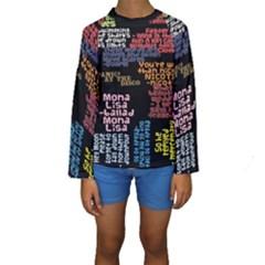 Panic At The Disco Northern Downpour Lyrics Metrolyrics Kids  Long Sleeve Swimwear by Onesevenart