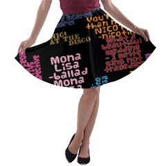 Panic At The Disco Northern Downpour Lyrics Metrolyrics A Line Skater Skirt by Onesevenart