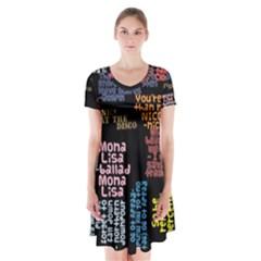 Panic At The Disco Northern Downpour Lyrics Metrolyrics Short Sleeve V Neck Flare Dress by Onesevenart