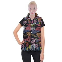 Panic At The Disco Northern Downpour Lyrics Metrolyrics Women s Button Up Puffer Vest by Onesevenart