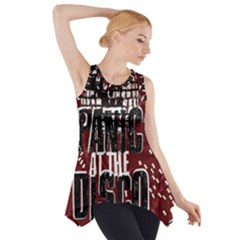 Panic At The Disco Poster Side Drop Tank Tunic by Onesevenart