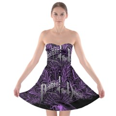 Panic At The Disco Strapless Bra Top Dress by Onesevenart