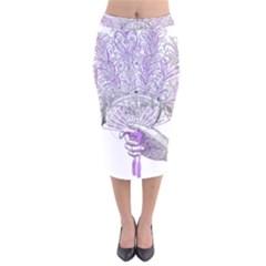 Panic At The Disco Velvet Midi Pencil Skirt by Onesevenart