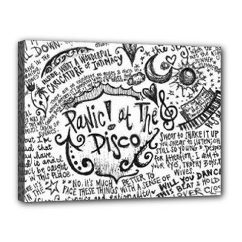 Panic! At The Disco Lyric Quotes Canvas 16  X 12  by Onesevenart