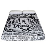Panic! At The Disco Lyric Quotes Fitted Sheet (Queen Size)
