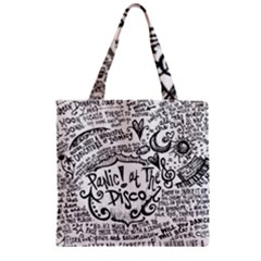 Panic! At The Disco Lyric Quotes Zipper Grocery Tote Bag by Onesevenart
