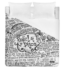 Panic! At The Disco Lyric Quotes Duvet Cover (queen Size) by Onesevenart