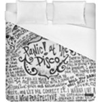 Panic! At The Disco Lyric Quotes Duvet Cover (King Size)