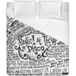 Panic! At The Disco Lyric Quotes Duvet Cover (California King Size)