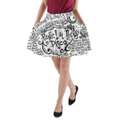 Panic! At The Disco Lyric Quotes A Line Pocket Skirt by Onesevenart