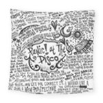 Panic! At The Disco Lyric Quotes Square Tapestry (Large)