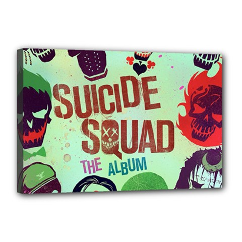 Panic! At The Disco Suicide Squad The Album Canvas 18  X 12  by Onesevenart